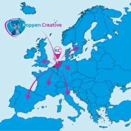 Koppen Creative office location in Europe
