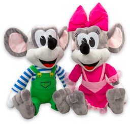 Muizen groot formaat knuffels Jul en Julia Julianatoren