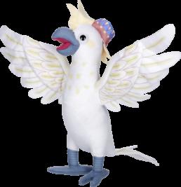 Grimm pluche kaketoe / cockatoo